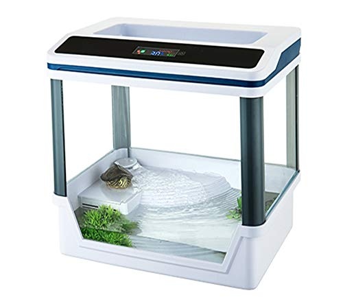 takestop® Aquarium Terrarium T360F mit Filtersystem und SMD LED Beleuchtung 33.5x22x33 cm 5W 300L/H LCD Digital