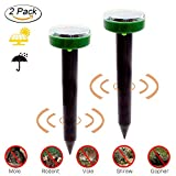 Woopower Solar Ultrasonic Mole Repeller 2 Pack Outdoor Gopher Deterrent Rodent Mat Mole