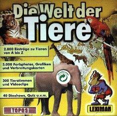 Die Welt der Tiere, 1 CD-ROM Für Windows 3.1/95/98/ME. 2.000 Einträge zu Tieren v. A bis Z. Mit Quiz