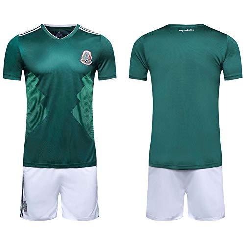 papay Argentinische Heimmannschaft Uniform Kurzarm Fußball Uniform Anzug Erwachsene Kinderbekleidung Messi Jersey,HomeofMexico-M (Fußball-mexiko-uniform)