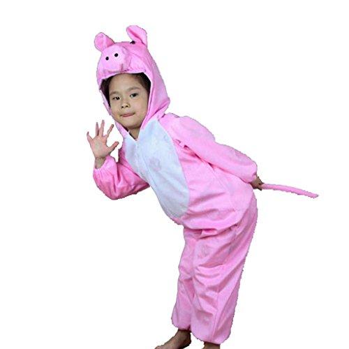 Wgwioo Kinder Tiere Cartoon Kindergarten Rosa Schweine Sammlung Kind Kostüm Schule Spiel Party Kleidung Bühne Aufführungen . 2# . 120Cm (Lyrical Dance Kostüme Rosa)