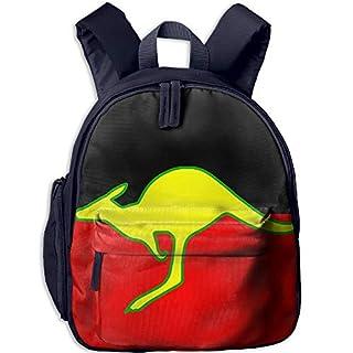 Flag of Australian Kangaroo Kid and Toddler Student Backpack School Bag Super Bookbag