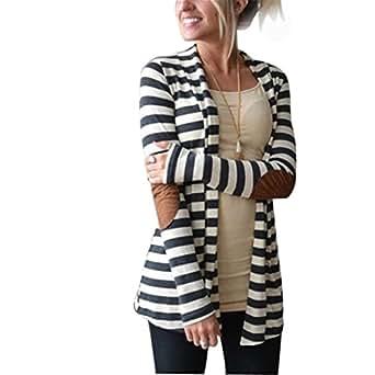 SHOBDW Femmes Loose Cardigan Veste Revers Lâche Blazer Manche Longue Trench Coat Chic Veste Manteaux Automne Hiver Casual Pull Outlet Asymétrique Blouson, S-XXXL (S, Blanc)