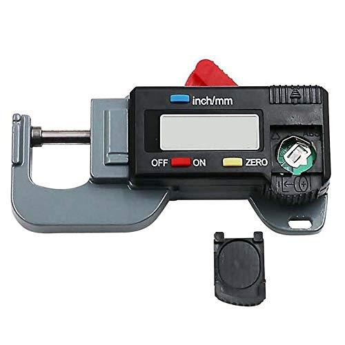 Dickenmessgerät Digital LCD Bildschirm Dickenmessgerät 15mm Taschen Stärke Messinstrument für Messungs Metall, Leder, Papier Zero Einstellung