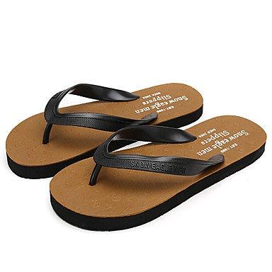 Mocassini & amp da uomo;Slip-Ons Primavera Autunno Comfort pelle bovina casuale Tallone piano StitchingLight Brow sandali US9.5 / EU42 / UK8.5 / CN43