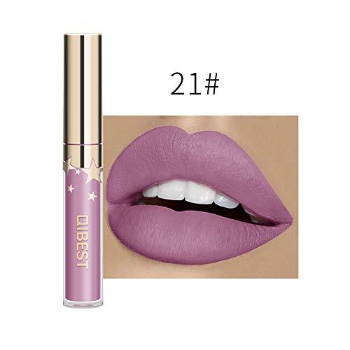Lippenstift matt wasserfest,IMJONO 2019 Jubiläum Göttin lippenstift langanhaltende Lippenwäsche-flüssiger Lippenstift-wasserdichter Lippenglanz-Make-up(one size,Weiß-U)