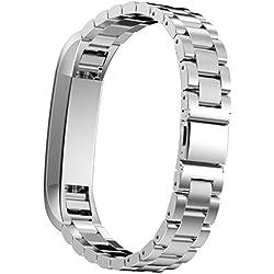 Fitbit alta pulseras, IVSO–Acero inoxidable Correa de Metal para Reloj de pulsera para Fitbit Classic banda alta Smart Watch plata Für Fitbit Alta
