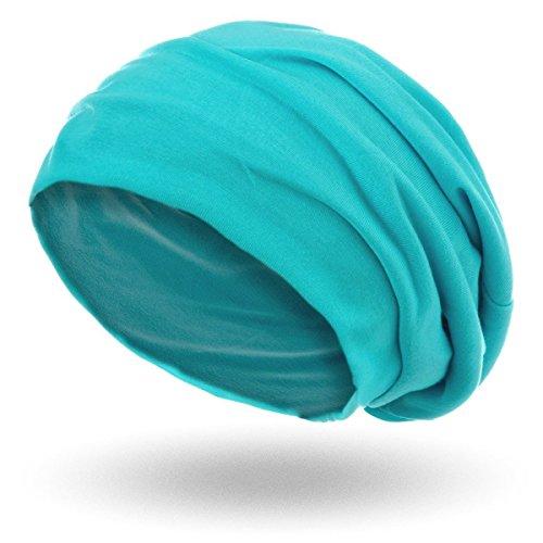 style3 Berretto 'Slouch beanie' in jersey traspirante, fino e leggero , Colore:Aqua