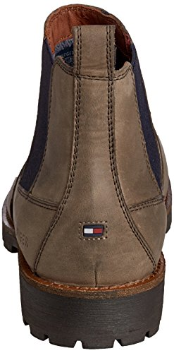 Tommy Hilfiger Houston 10a, Bottes Chelsea courtes, doublure froide homme Gris - Grau (STONE/MIDNIGHT 270)