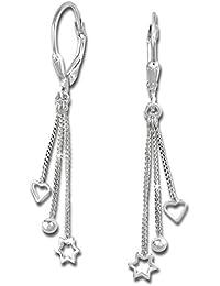 SilberDream Ohrring Kollektion - Ohrhänger 3er Kettchen Ohrring 925er Silber SDO5733