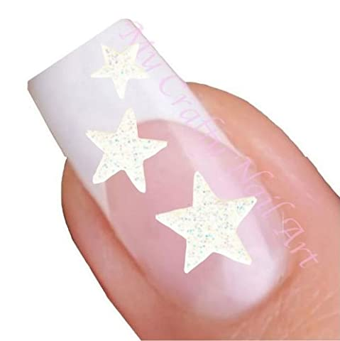 Etoiles blancches autocollants pour nail art adhésives