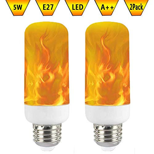 KAWER Medio Bombilla de llama LED 3W E27 Lámparas de Araña Decorativa...
