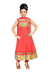 Trendy Girls Party Wear Tomato Anarkali Dress