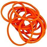 Rubber Bands 180 Pcs 3CM Approx. Dia Orange Color, NEW PACK