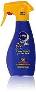 Nivea - Spray Solare Protettivo Per Bambini Protezione Molto Alta 50 +, Extra Resistente All'Acqua - 300 Ml