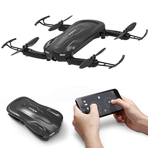 AUKWING Syma Z1 Mini Faltbare Drohne mit HD Kamera, 90 ° drehbare 720P Kamera RC Quadcopter Ferngesteuerte Tasche Drohne für Anfänger und Kinder
