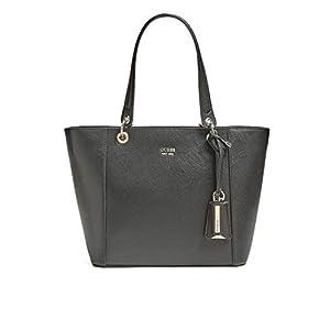Guess kamryn saffiano schwarze Einkaufstasche