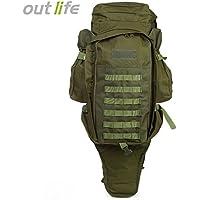 60L USMC táctico militar del ejército mochila de senderismo al aire libre Camping Caza Rifle Bolsa Mochila escalada bolsas mochila de viaje,ejército verde