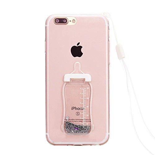Vandot iPhone 7 Plus TPU Silicone Case Coque Swag Souple incassable Gel TPU Transparente Silicone Housse Cristal Ultra Slim Fit Bumper Motif Protective Housse anti-rayures Etui de protection para iPho biberon-1