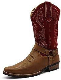 935d42d7df Herren Leder Cowboy-Ziehen Auf der westlichen Langen kubanischen Ferse  Smart Knöchel Stiefel EU40-