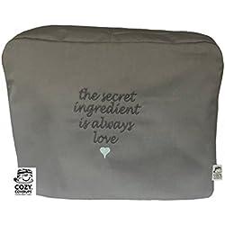 Cozycoverup - Housse de protection anti-poussière pour robot menager kenwood in Secret Love (Major Titanium/Chef Elite XL KM020 KM022 KM023 KM0, Gris)