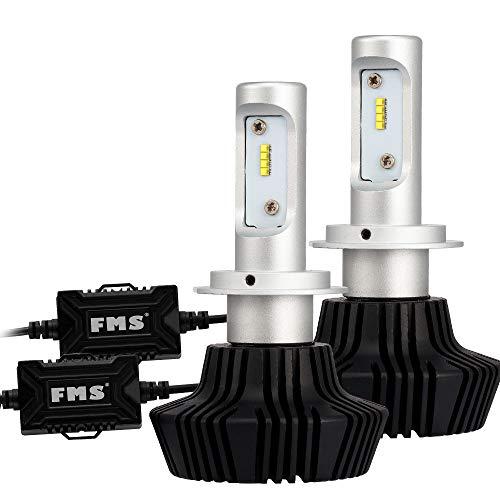 FMS H7 Scheinwerfer Autoscheinwerfer Kit 80W mit Luftfahrt Aluminium DC 12-24V 8000Lm 6500K, Kein CANBUS (H7) (H7-lampe 80w)