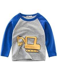 XXYsm Baby Tops Langarmshirts Jungen Unterhemd T-Shirts Langarm Cartoon Auto Oberteile