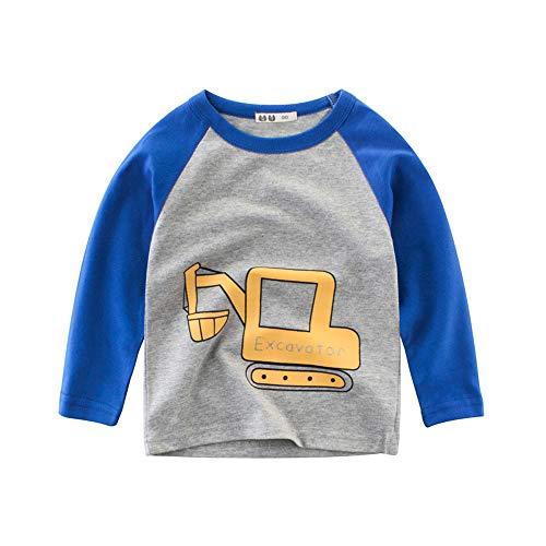 Huhu833 Baby Sweatshirts, Kleinkind Baby Sweatshirt Kinder Jungen Mädchen T-Shirts Cartoon Auto Tops Unterhemd Outfits Kleidung (Blau, 18-24Monate) -