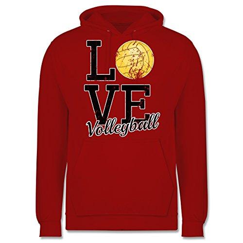 Volleyball - Love Volleyball - Männer Premium Kapuzenpullover / Hoodie Rot