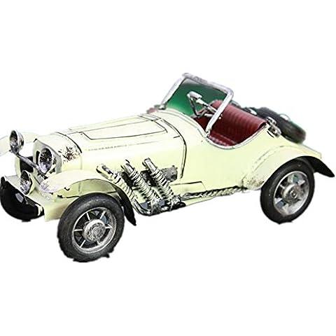 GYN Coches clásicos coches vintage, metal manualidades adornos , white