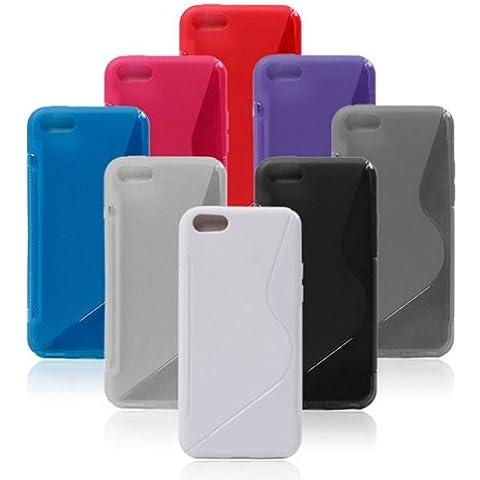 Cubierta de la caja S Line Design Gel TPU suave para el iPhone 5C.