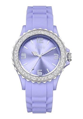 FIRETTI Armbanduhr Damenuhr Uhr mit funkelnden Glassteinen lila