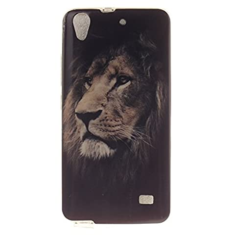 Guran® Ultra Mince Silicone TPU Gel Cover Étui pour Huawei Ascend G620s Smartphone Coque de Protection - Lion