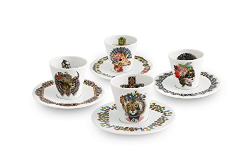 VISTA ALEGRE Juego 4 Taza de Café C/Platillo Love You Want by Christian Lacroix