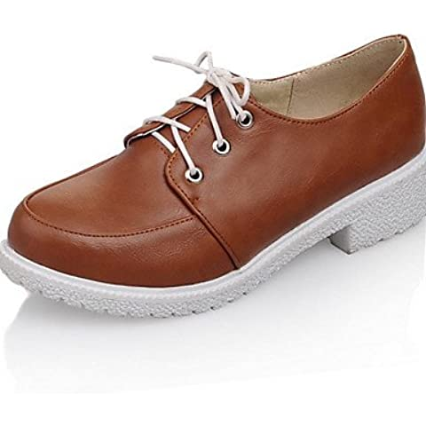 ZY/scarpe da donna tacco grosso tacchi/Basic Pompa Pompe/Tacchi Ufficio & carriera/vestito/casuale, 1in-1 3/4in-beige