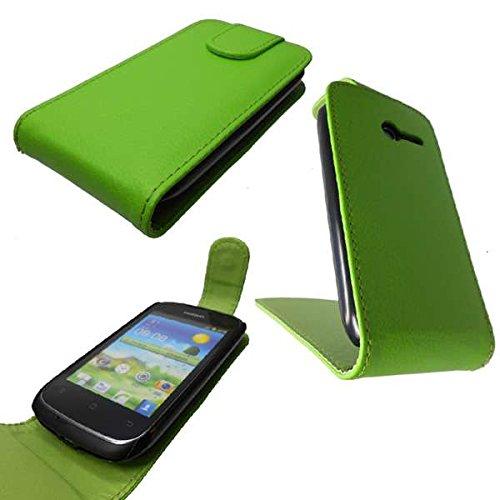 caseroxx Flip-Case Handytasche zum Aufklappen Grün Huawei Ascend Y201 pro