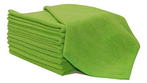 ZOLLNER® 10er Set Putztücher / Reinigungstücher / Microfasertücher-Set, Größe ca. 40x40 cm einfarbig grün, in verschiedenen Farben erhältlich, vom Hotelwäschespezialisten Serie Poll