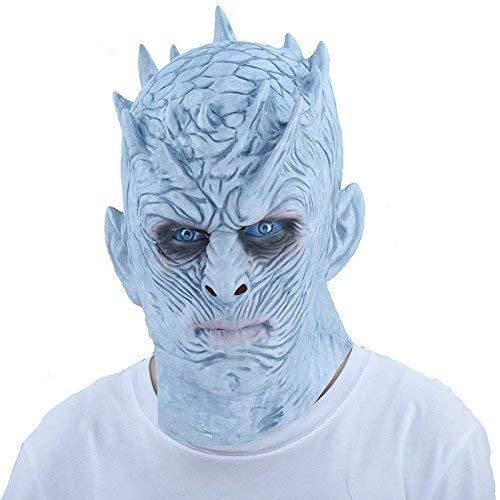 thematys Nacht-König Night King Maske weißer Wanderer Game of Thrones - perfekt für Fasching, Karneval & Halloween - Kostüm für Erwachsene - Latex, Unisex Einheitsgröße (Frau Kostüm Weiß)