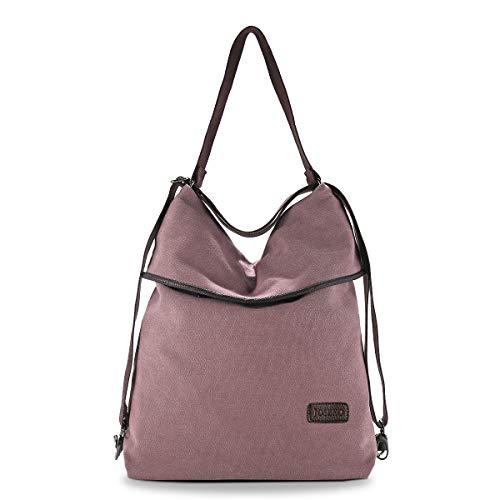 JOSEKO Canvas Tasche Segeltuch Vintage Rucksäcke Damen Schultertasche Handtasche Multifunktionsbeutel für Reise Outdoor Schule Einkauf Alltag Büro Kaffee -