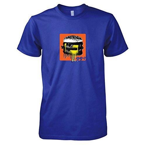 Girl Banksy Kostüm Ballon - Krysom - 99c Burger - Herren T-Shirt, Größe L, Marine