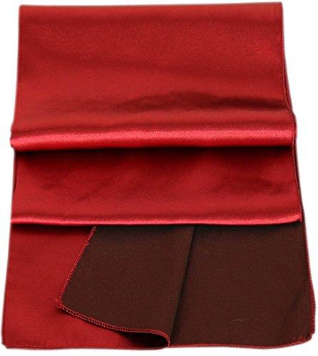 JuJu &christine en satin pour femme avec foulard foulard de soirée pour soirée ballkleid mixte rouge bordeaux