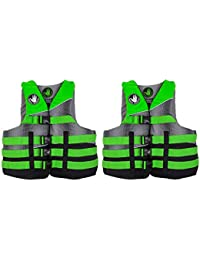 ada82ba2ba Body Glove Method Adult Small Medium Swimming Life Preserver Jacket Vest  Green (2 Pack