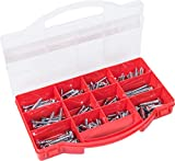 Connex Schlüsselschrauben-Sortiment 170-teilig - Diverse Größen - Sechskant-Antrieb - Teilgewinde - Verzinkt / Schrauben-Set / Sortimentskasten / DP8500093