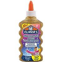 ELMER'S Colla Glitterata, Lavabile e Adatta ai Bambini, Ottima per Realizzare Slime, 177 ml, Oro