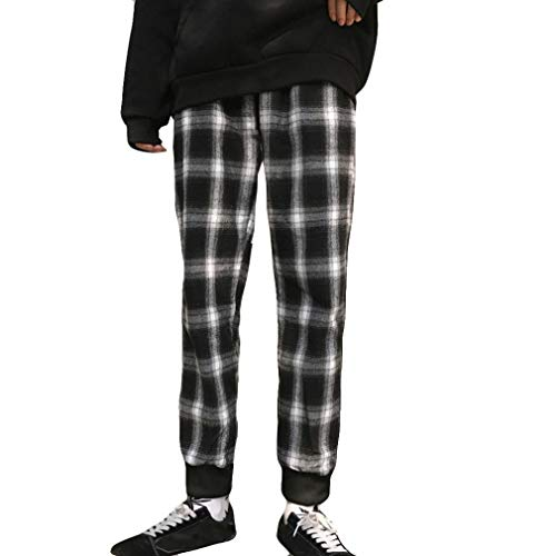 Unisex Mode Gitter Leggings beiläufige dünne Hosen Hosen-Unisex -