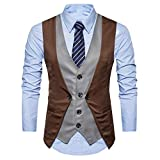 Winterjacke Herren Manadlian Männer Warm Vest+Mode Shirt 2 Stück Formal Tweed Scheck doppelt Breasted Weste Retro Slim Fit Passen Jacke