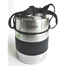 Life Style - Récipient Alimentaire Isotherme/Lunchbox - Acier Inoxydable - Noir - 1000 ml