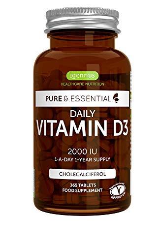 Pure & Essential Vitamina D3 Cotidiana, colecalciferol 2000 ui, suministro diario para un...