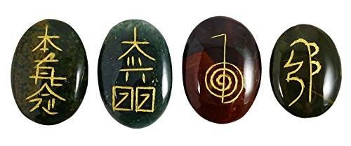 Harmonize Multistone Set 4 Chakra Symbol Spirituelle Geschenk RadiŠsthesie Reiki Heilsteine