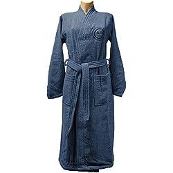 Versace 1969Homme Peignoir de Bain, éponge, Bleu, 30x 30x 30cm
